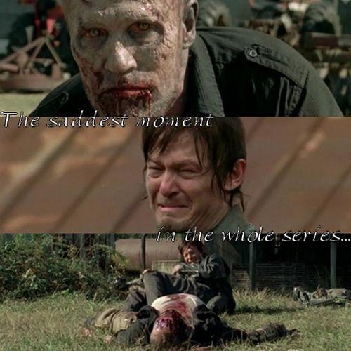 The saddest moment? Really?  Really?