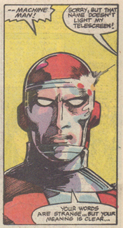 from Machine Man vol 2, #1 - 1984