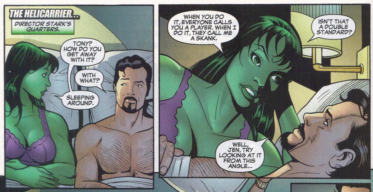 Dan slotts she hulk derivative character as meta comic