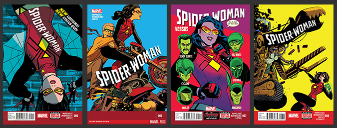 Spider-Woman-Covers