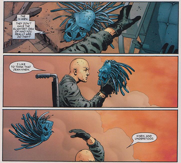 ... acknowledgement of Xavier's dark side ...